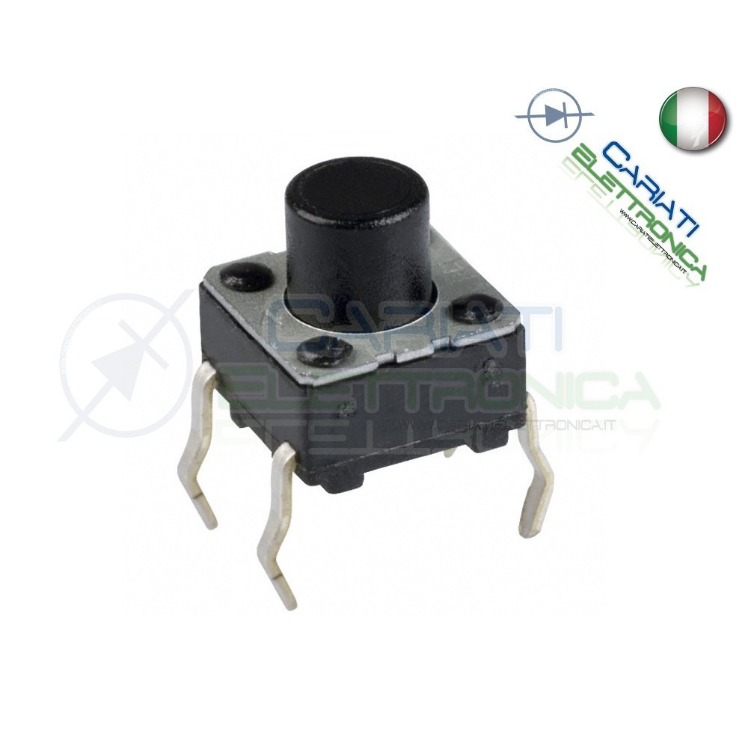 10 MINI MICRO PULSANTE 4.5x4.5x6 mm PCB Tactile Switch  1,50€
