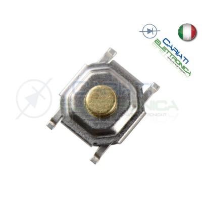 50 MINI MICRO PULSANTE 5.2X5.2X1.7 mm PCB Tactile Switch  6,00€