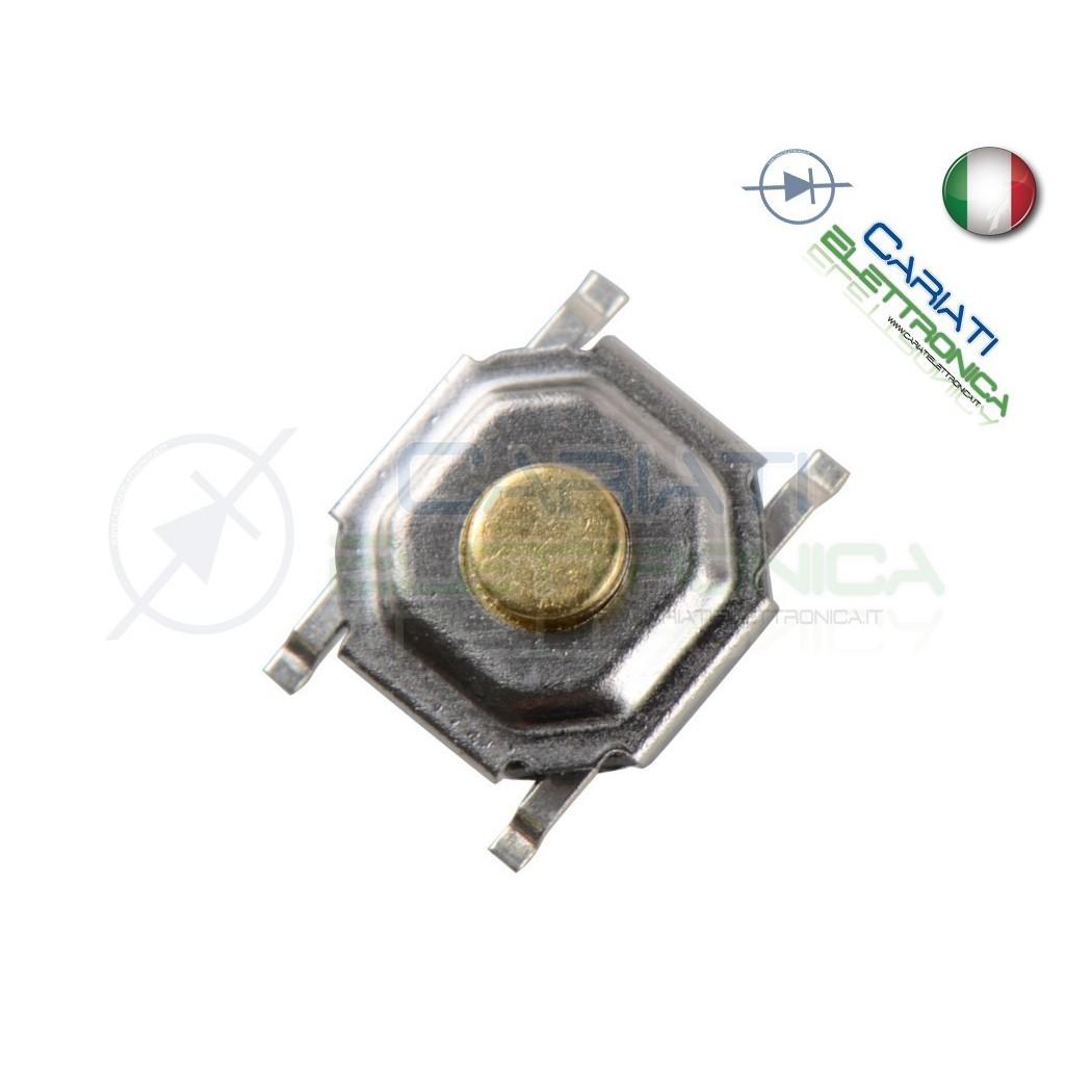 50 MINI MICRO PULSANTE 5.2X5.2X2.5 mm PCB Tactile Switch