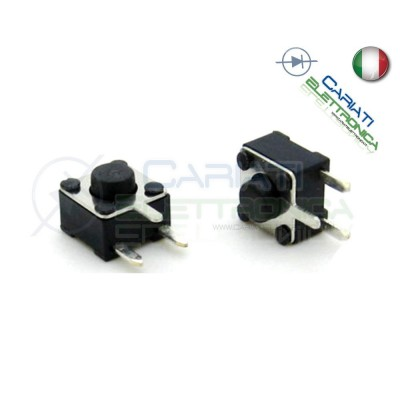10 MINI MICRO PULSANTE 4.5X4.5X3.8 mm PCB Tactile Switch  1,50 €