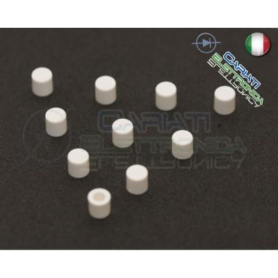 10 PEZZI cappuccio Bianco per pulsanti PCB 6x6 altezza 6 7 8 8,5 9 9,5 10 mm  1,00€