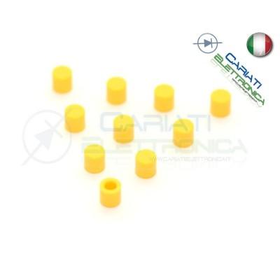 10 PEZZI cappuccio Giallo per pulsanti PCB 6x6 altezza 6 7 8 8,5 9 9,5 10 mm  1,00€