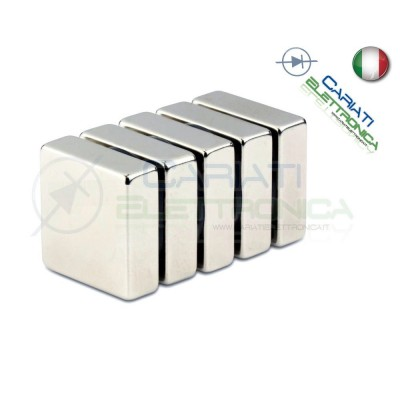 10 Pezzi CALAMITE MAGNETI NEODIMIO 5x5x1 mm POTENTI FIMO CERAMICA BOMBONIERE