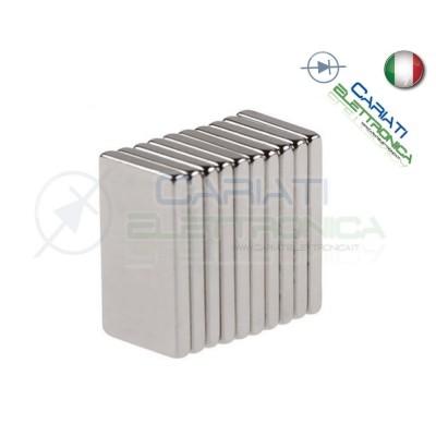 10 Pezzi CALAMITE MAGNETI NEODIMIO 10x5x1 mm POTENTI FIMO CERAMICA BOMBONIERE  1,50€