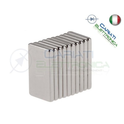 100 Pezzi CALAMITE MAGNETI NEODIMIO 10x5x1 mm POTENTI FIMO CERAMICA BOMBONIERE  7,00€