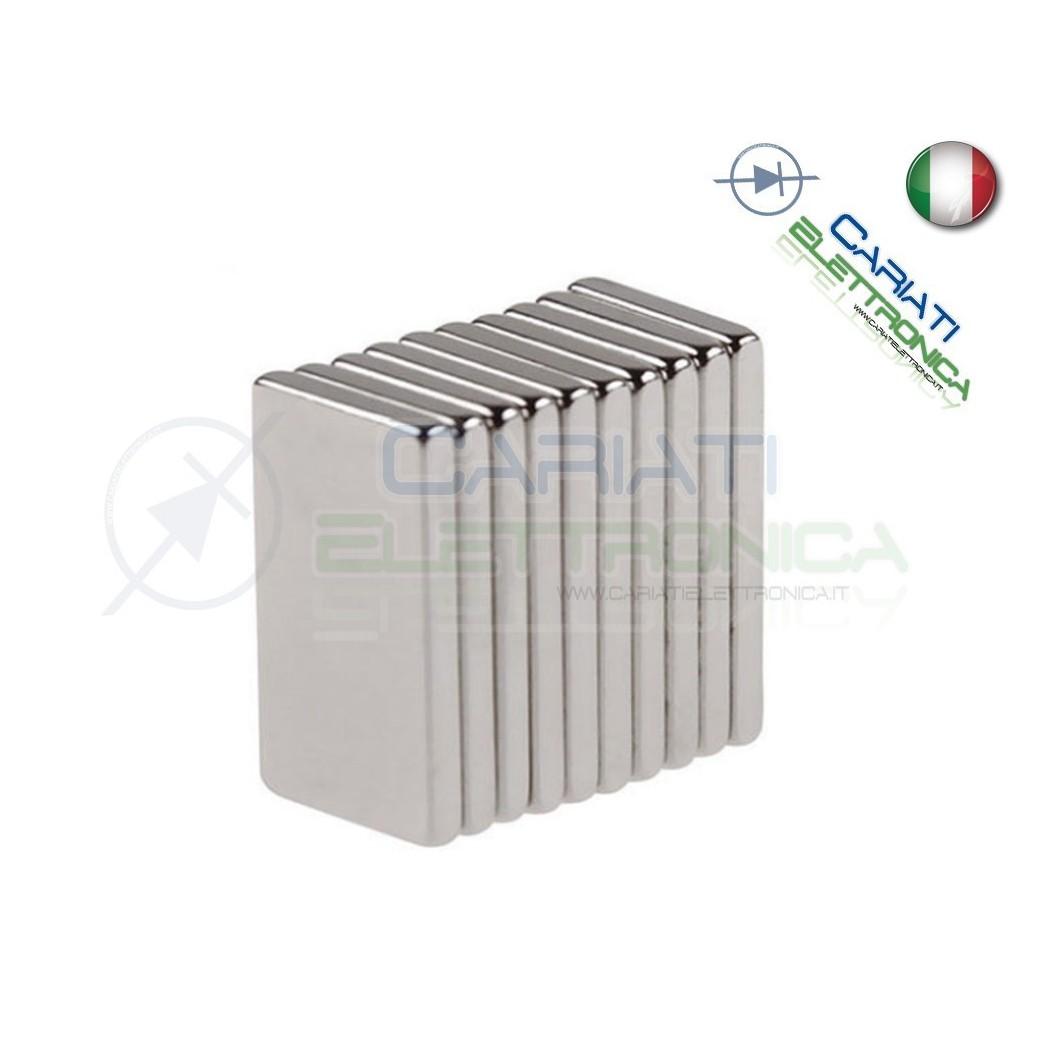 50 Pezzi CALAMITE MAGNETI NEODIMIO 10x5x2 mm POTENTI FIMO CERAMICA BOMBONIERE  4,90€
