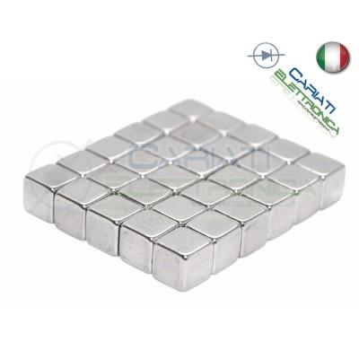 10 Pezzi CALAMITE MAGNETI NEODIMIO 5x5x5 mm POTENTI FIMO CERAMICA BOMBONIERE  2,00€
