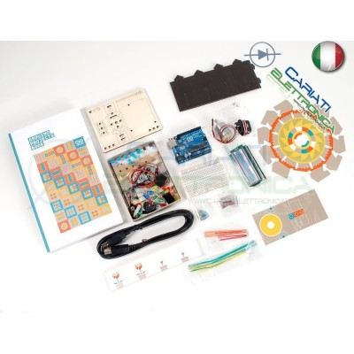 STARTER KIT ARDUINO ORIGINALE CON Arduino UNO R3 Libro Arduino