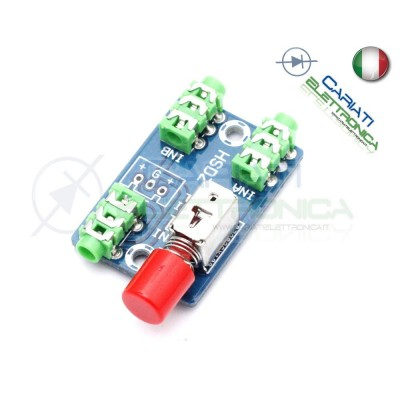 Deviatore audio 3.5mm 2 ingressi 1 uscita Audio Switching  4,90€