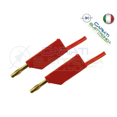 Cavo da 1 metro con Connettore Spina a Banana da 2mm Rosso mini Plug Audio