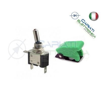 10 PEZZI Interruttore Leva Con Led Verde Tuning 12V 20A