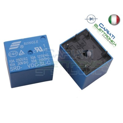 SRD-24VDC-SL-C Relè Songle 24V Dc Spdt 10A singolo scambio 30Vdc 250Vac Songle