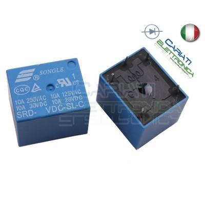 Relay Relè 5V Dc 10A Circuito Stampato Pcb 1 Scambio SRD-5VDC-SL-C SRD