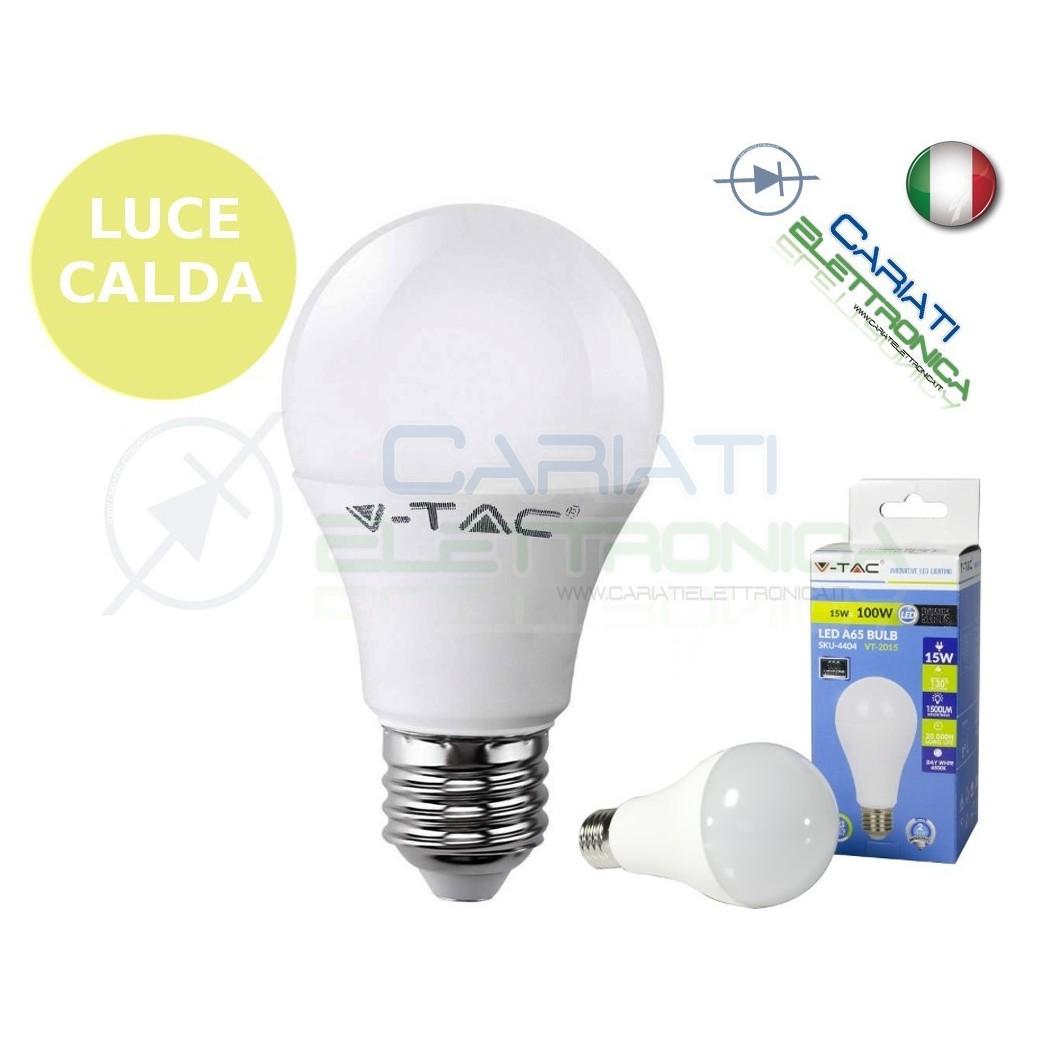 LAMPADA LAMPADINA LED V-TAC E27 15W VT-2015 LUCE CALDA 1500Lm 2700k SKU 4453