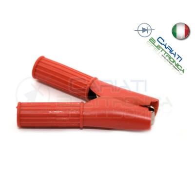 Pinza Coccodrillo con Guaina Colore Rosso lunghezza 82mm  1,40€