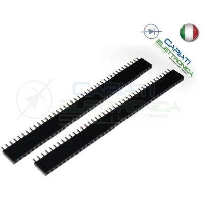 2 Pezzi Connettori strip line 40 poli Femmina StripLine Passo 2,54mm Generico