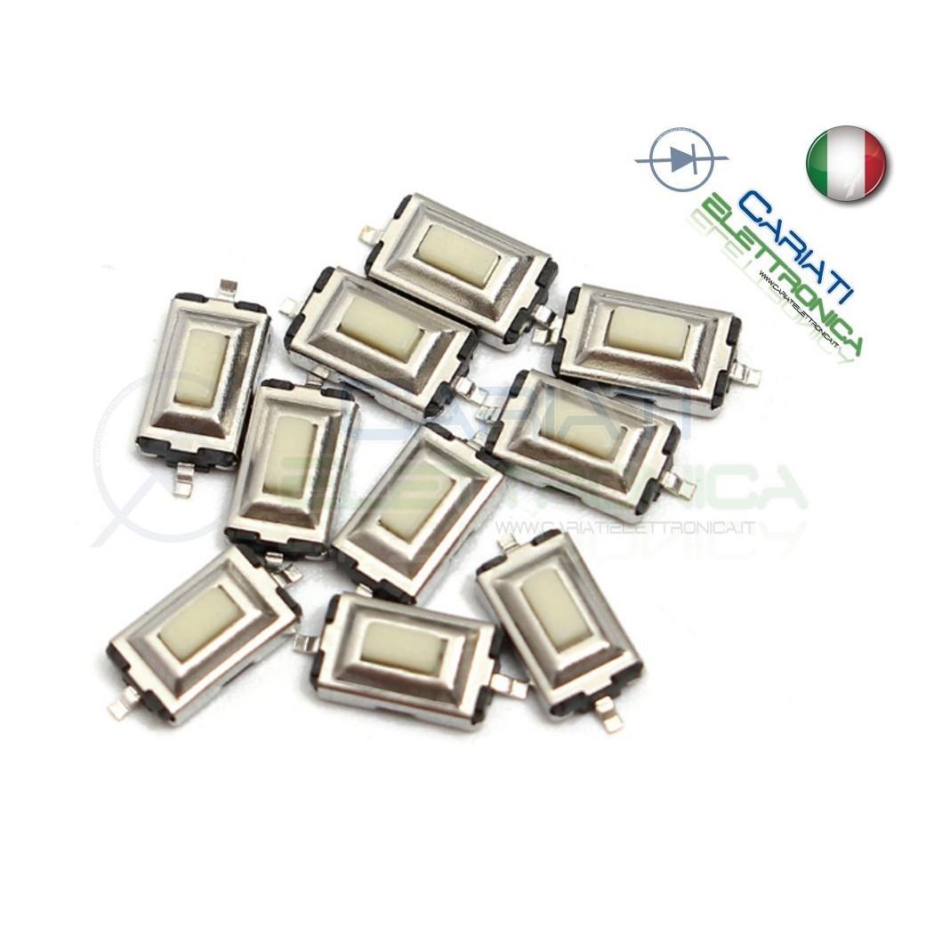50 PEZZI MINI MICRO PULSANTE 6.1x3.7x2.5 mm PCB Tactile Switch  4,00€