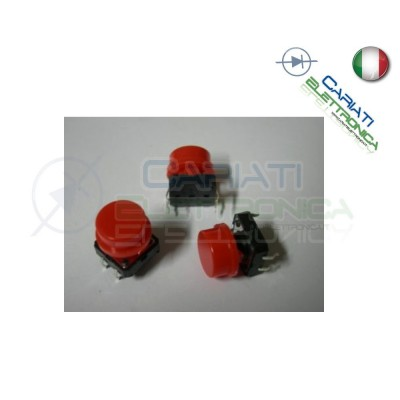 5 MINI MICRO PULSANTE 12x12x12.5 mm PCB Tactile Switch con Cappuccio