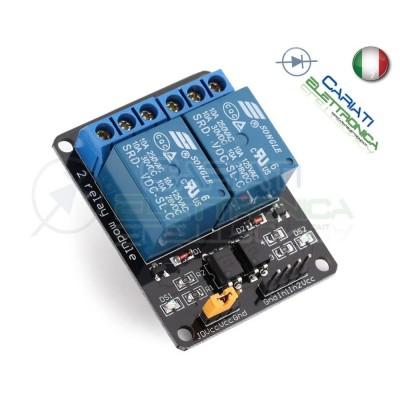 Modulo Scheda 2 relè 12V compatibile con Shield Arduino 2 Canali 10A 250Vac Generico