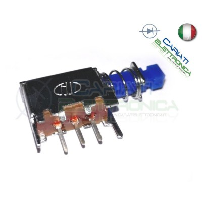 2 PEZZI INTERRUTTORE DEVIATORE SPDT ON OFF ON 30V 200mA 3pin PCB