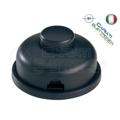 Interruttore a pedale nero volante per lampade 250VAC 2A