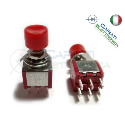 PULSANTE DEVIATORE ON ON DPDT 2A 250V 6 PIN  2,49 €