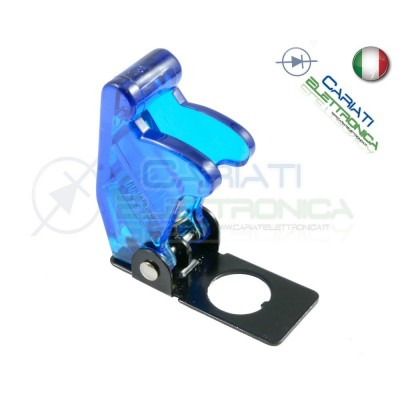 COVER INTERRUTTORE A LEVA BLU TRASPARENTE Aircraft Missile Style Toggle Switch Flick