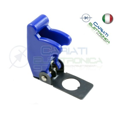 COVER INTERRUTTORE A LEVA BLU MATTO Aircraft Missile Style Toggle Switch Flick