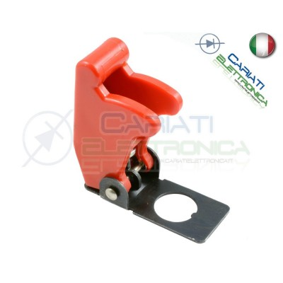 COVER INTERRUTTORE A LEVA ROSSO MATTO Aircraft Missile Style Toggle Switch Flick