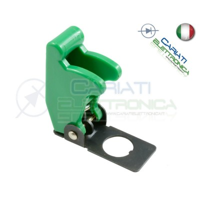 COVER INTERRUTTORE A LEVA VERDE MATTO Aircraft Missile Style Toggle Switch Flick