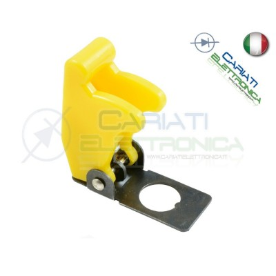 COVER INTERRUTTORE A LEVA GIALLO MATTO Aircraft Missile Style Toggle Switch Flick