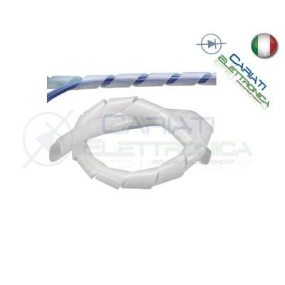 Guaina a Spirale Avvolgicavo TRASPARENTE Diametro 24mm Lunghezza 2 METRI  4,00€