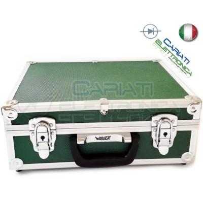 Valigetta in Alluminio 340x280x125 mm Verde per Utensili Tecnici Elettricisti