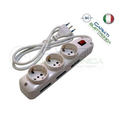 Multipresa Ciabatta Elettrica con interrutore a 9 prese 250V 16A e cavo 1,5m  7,99€