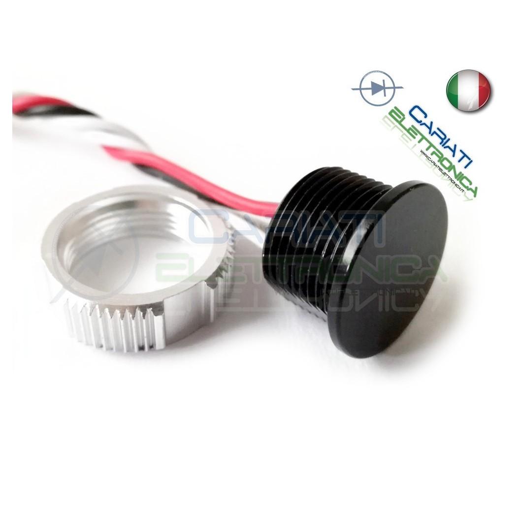 BLU impermeabile PUSH SWITCH-pulsante-normalmente aperto-SPST-per foro 13mm