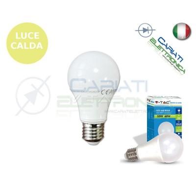 LAMPADA LAMPADINA LED V-TAC E27 10W VT-1853 LUCE CALDA 806Lm 2700k SKU 4209