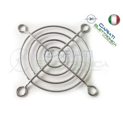 GRIGLIA DI PROTEZIONE PER VENTOLA 60 X 60mm in metallo cromato computer case  1,05€