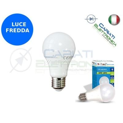 LAMPADA LAMPADINA LED V-TAC E27 10W VT-1853 LUCE FREDDA 806Lm 6400k SKU 4227