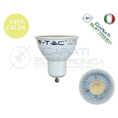 LAMPADA FARETTO LED V-TAC GU10 7W VT-2666 LUCE CALDA 550Lm 300k SKU 1657