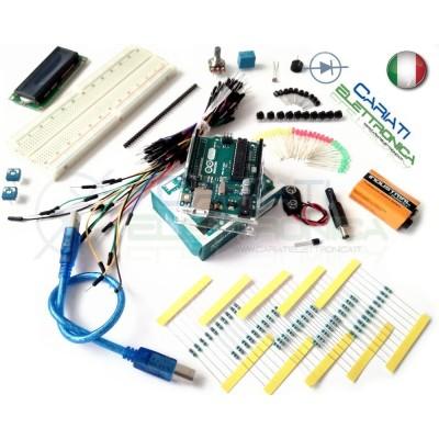 STARTER KIT ARDUINO UNO Rev.3 con microcontrollore ATmega328