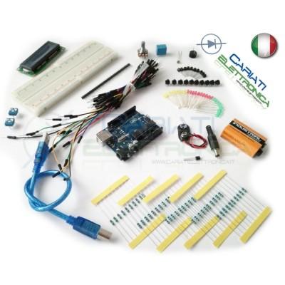 STARTER KIT ARDUINO UNO Rev.3 COMPATIBIE con microcontrollore ATmega328