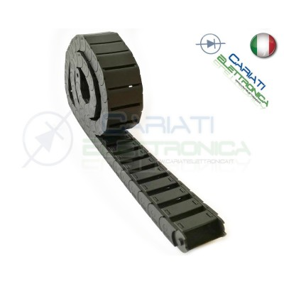 Catena Nera Passacavi Portacavi Porta Cavo 15x40 mm 1 metro CNC Stampante 3D