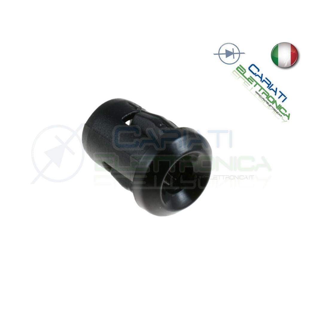 100 PEZZI SUPPORTO PORTA LED 3MM IN ABS PLASTICA NERA