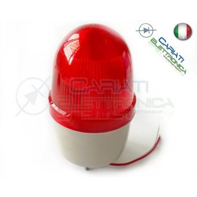 SPIA DI SEGNALAZIONE LUMINOSA LAMPEGGIANTE ROSSO ROSSA 12V  10,90€