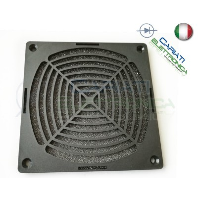 GRIGLIA DI PROTEZIONE PER VENTOLA 120 X 120 mm 12 x 12 cm con filtro computer case