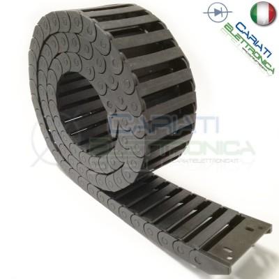 Catena Nera Passacavi Portacavi Porta Cavo 10x40mm 1 metro CNC Stampante 3D Generico