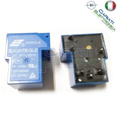 Relay SLA-24VDC-SL-C coil 24V Spdt 250Vac 30Vdc 30ASongle