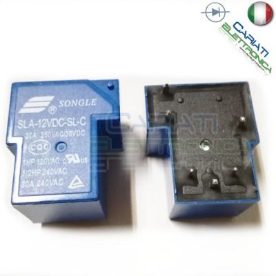 Relay Relè 12V Dc 30A Circuito Stampato Pcb SLA-12VDC-SL-C SLA