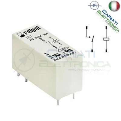 Relay RM85-2021-25-1006 Voltage coil 6V Dc 16A Spst RELPOLRelpol