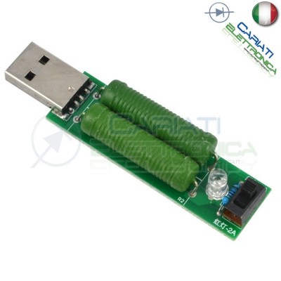 Sonda di carico resistiva USB 1A 2A dummy load test 5V resistenza